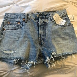 NWT - 501 button front Levi shorts